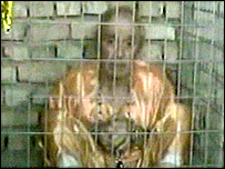 British hostage Ken Bigley seen on a video aired by Al-Jazeera, 29 September 2004