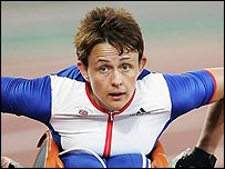 Tanni Grey Thompson in action in Athens