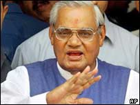 Indian premier Atal Behari Vajpayee