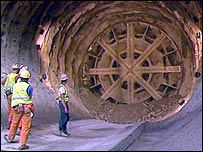 Work on the Channel Tunnel