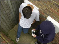 Generic picture of teenagers in alley