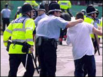 The first day of the 1999/2000 football season saw 14  people hurt and six arrested as Cardiff and Millwall supporters met in a pre-arranged fight in the Welsh capital's city centre