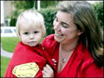 Sara Leisten and son (photo: Expressen)
