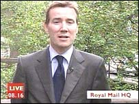 Royal Mail chief Adam Crozier, live on Breakfast