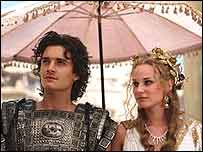 Orlando Bloom & Diane Kruger in Troy