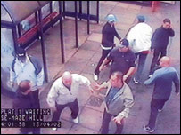CCTV footage from Maze Hill station