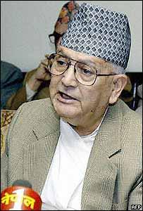 Nepalese Prime Minister Surya Bahadur Thapa