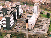 Yorkhill's Sick Children's Hospital (left) and the Queen Mother's Maternity Hospital
