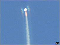 SpaceShipOne just after separation