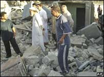 Casas destruidas por ataque de EE.UU. en Faluya