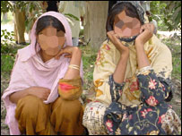 Alleged rape victims in Pakistan