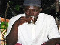 Aziz Mouna Camara, who brews al-Qaeda tea in Guinea