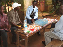 Al-Qaeda tea drinkers in Guinea's capital Conakry