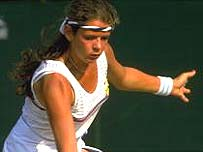 Annabel Croft at Wimbledon where, at 15, she was the youngest Briton to play there for 100 years