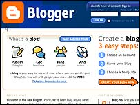 Screenshot of new Blogger service