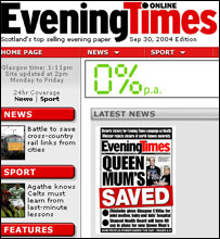 Evening Times grab