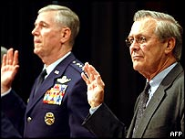 Rumsfeld and Chairman of the Joint Chiefs of Staff Richard Myers