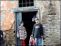 Beggar children in Sarajevo