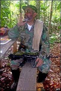 Raúl Reyes, uno de los máximos líderes de las FARC