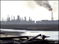 Oil refinery in Iraq