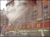 The Woolworths store fire in Manchester