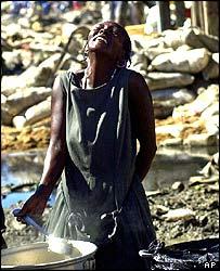 A woman in Gonaives