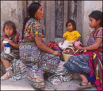 Familia indígena.