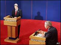 John Kerry and George W Bush