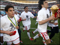 Tunisia after winning the Cup of Nations in February