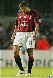 Rivaldo, cuando jugaba para el AC Milan