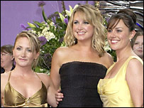 EastEnders actresses Lucy Speed, Kim Medcalf and Jill Halfpenny