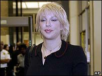 Courtney Love arriving at court on 30 September