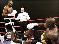 Audley Harrison knocked down Julius Francis in the last.
