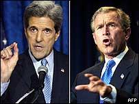 John Kerry y George W. Bush
