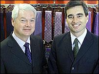 Luc Vandevelde and Roger Holmes