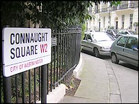 Connaught Square, W2, where Tony Blair and family have bought a house