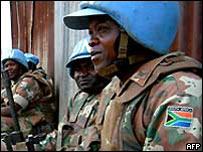 UN peacekeepers in Bukavu in eastern DR Congo