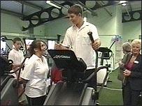 Gym users