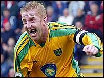 Norwich striker Iwan Roberts