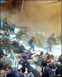 Panic in the Dynamo stadium in Grozny after the blast