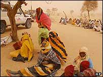 Sudanese refugees in eastern Chad