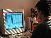 A man using a computer (generic)