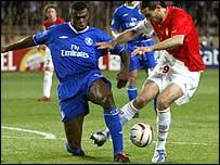 Chelsea defender Marcel Desailly