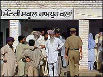Polling station in Patiala district, Punjab
