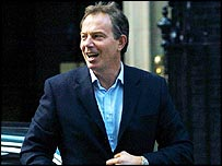 Mr Blair paid tribute to hospital staff