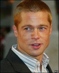 Brad Pitt at Troy premiere