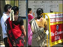 Voters in Madras