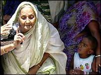 86-year-old woman comes out of polling booth in Calcutta