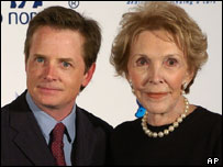 Michael J. Fox and Nancy Reagan