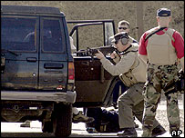 Ambush drill at private security firm Blackwater